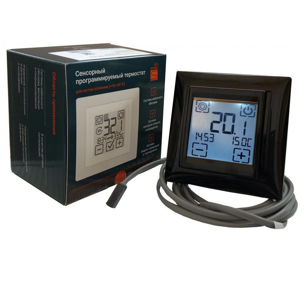 Терморегулятор программируемый сенсорный SPYHEAT SDF-421H Черный