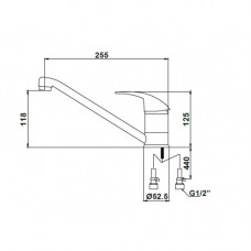 14022BLPa Смеситель KAISER Magistro для кухни D40(BLACK PAINT)