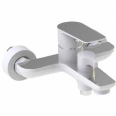 Смеситель для ванны KAISER Atrio 60022 ванна к/н D35 белый-хром с душем