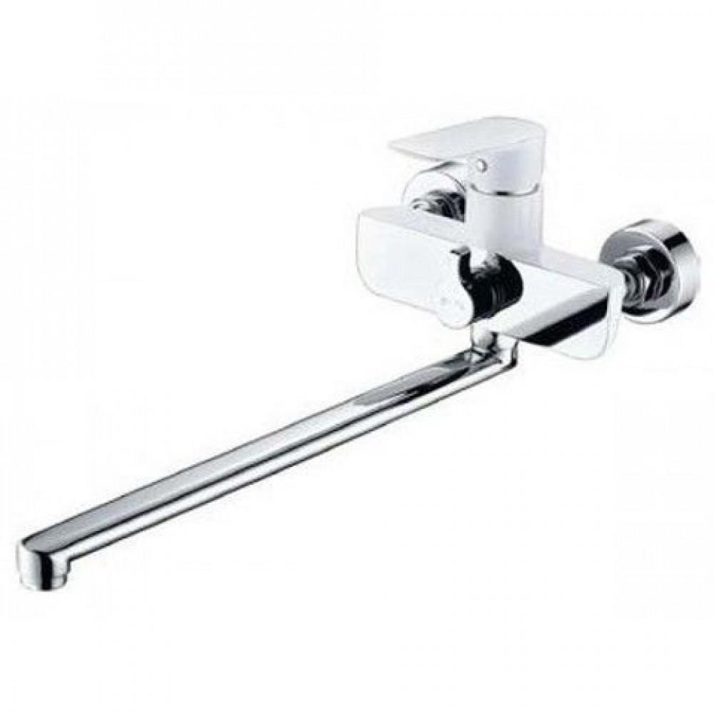 Смеситель для ванны KAISER Atrio 60055 ванна встр. перек. D35 белый-хром