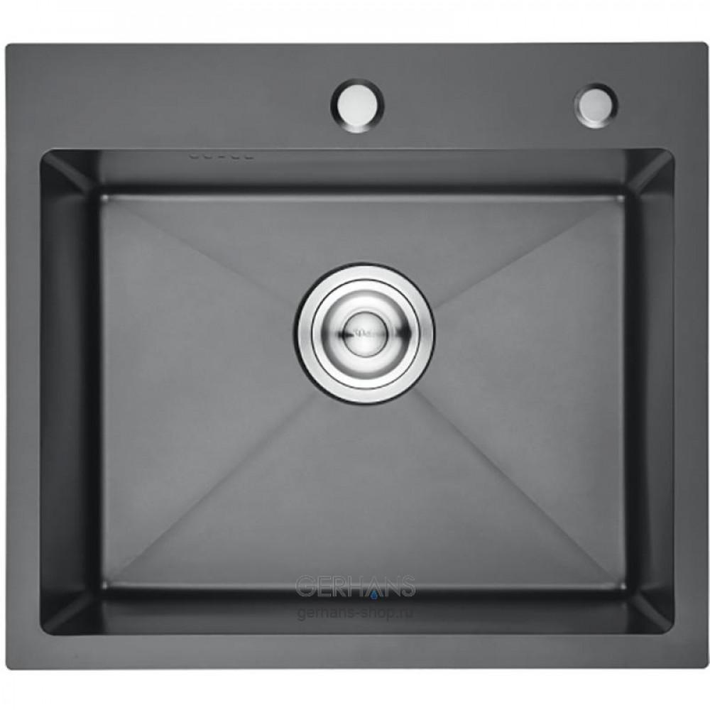 Кухонная мойка из нержавеющей стали Gerhans K35044В (500х440 мм) с PVD- покрытием