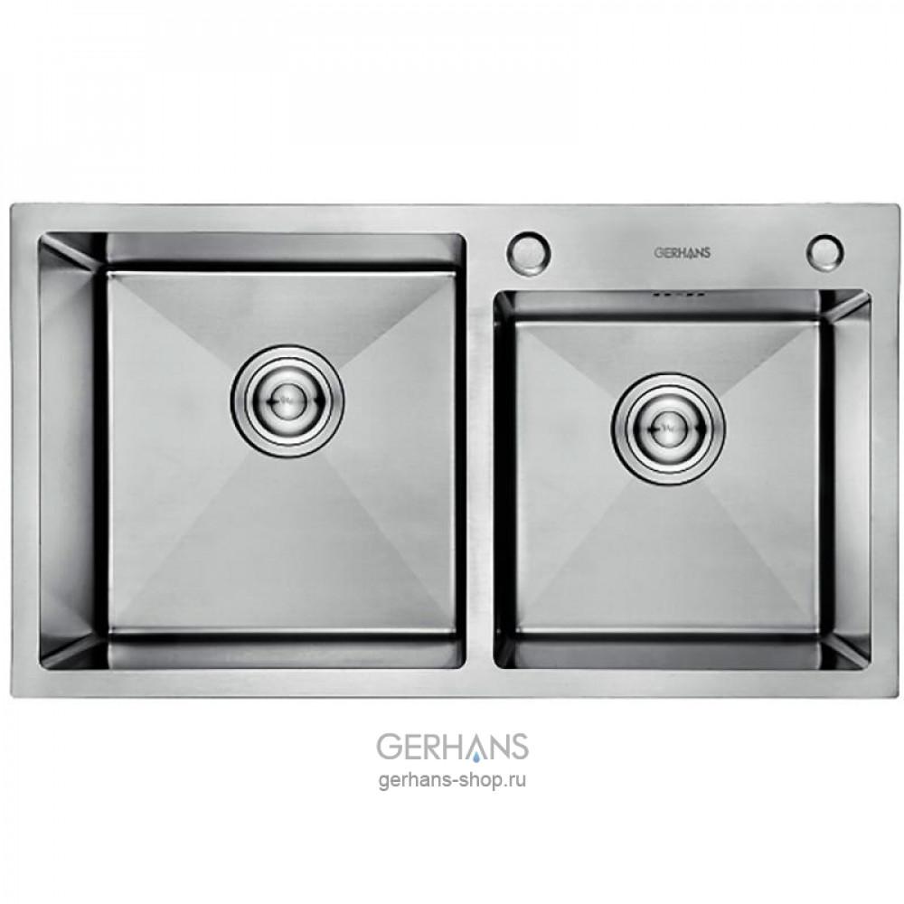 Кухонная мойка из нержавеющей стали Gerhans K37843-S (780х430 мм)