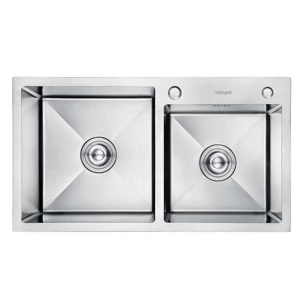 K37843-S Кухонная мойка двойная нерж.сталь GERHANS