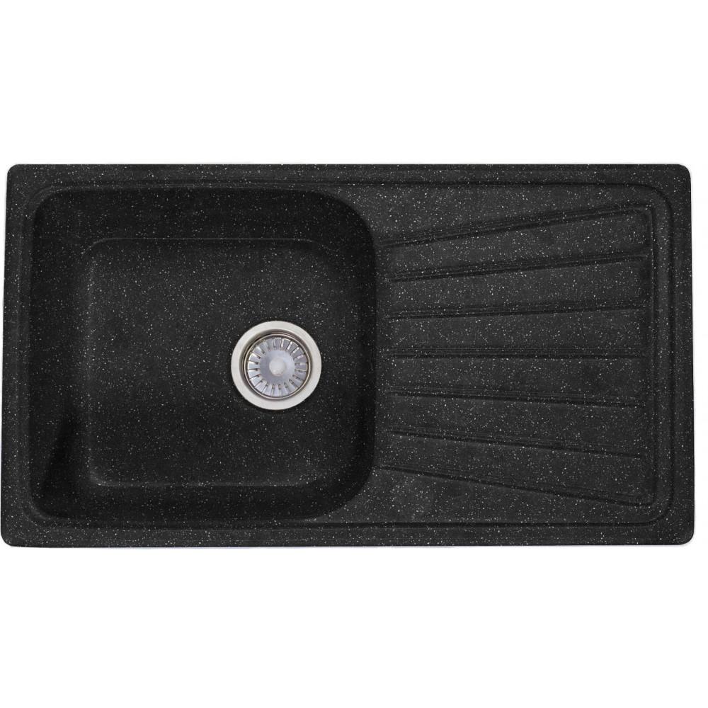 Мойка КМ 81-46 SGA-420 обсидиан с одинарным сифоном