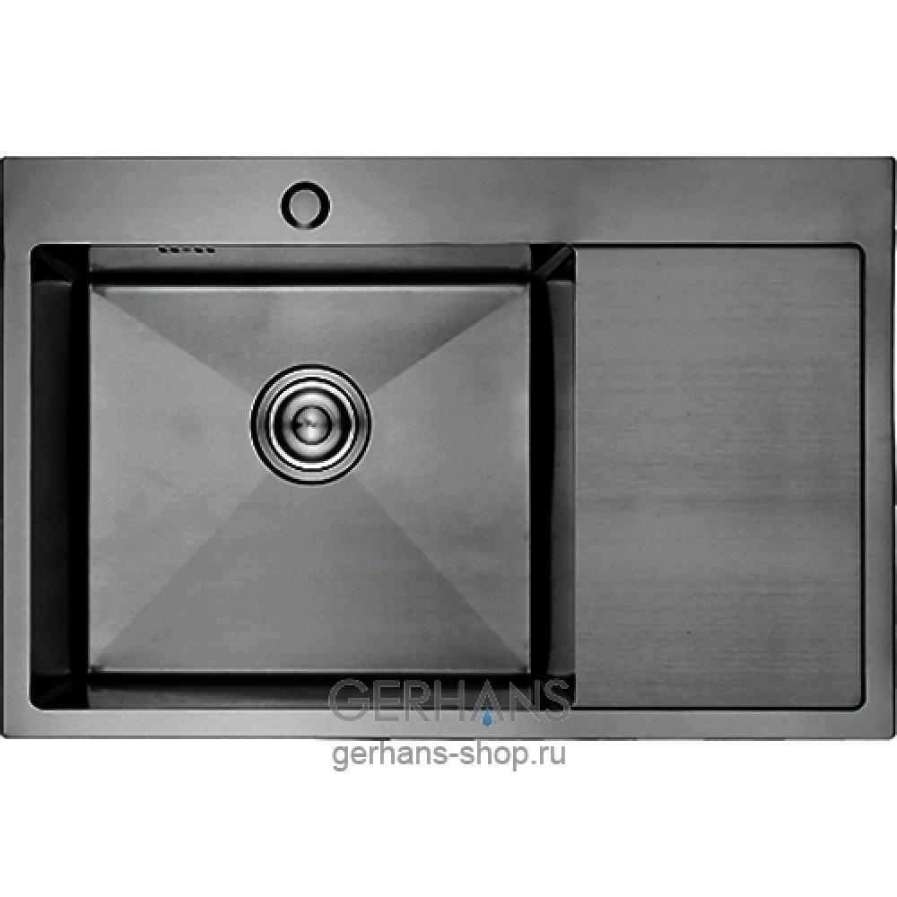 K37851B-L Кухонная мойка из нержавеющей стали Gerhans ГРАФИТ