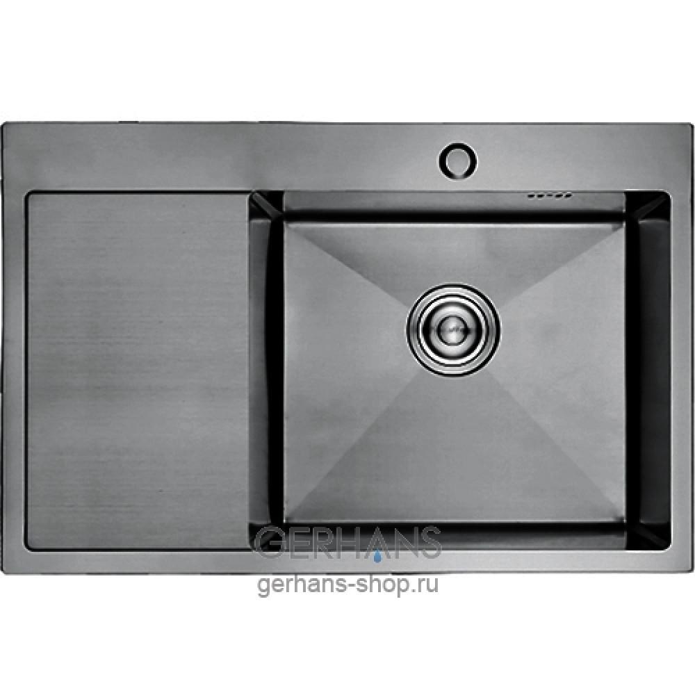 K37851B-R Кухонная мойка из нержавеющей стали Gerhans графит