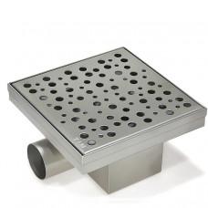 Трап квадратный 15см*15см с горизонт. вып. гидро+сух. защита от запаха BAD411502