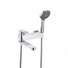 V043532F Смеситель для ванны, короткий с поворотным изливом