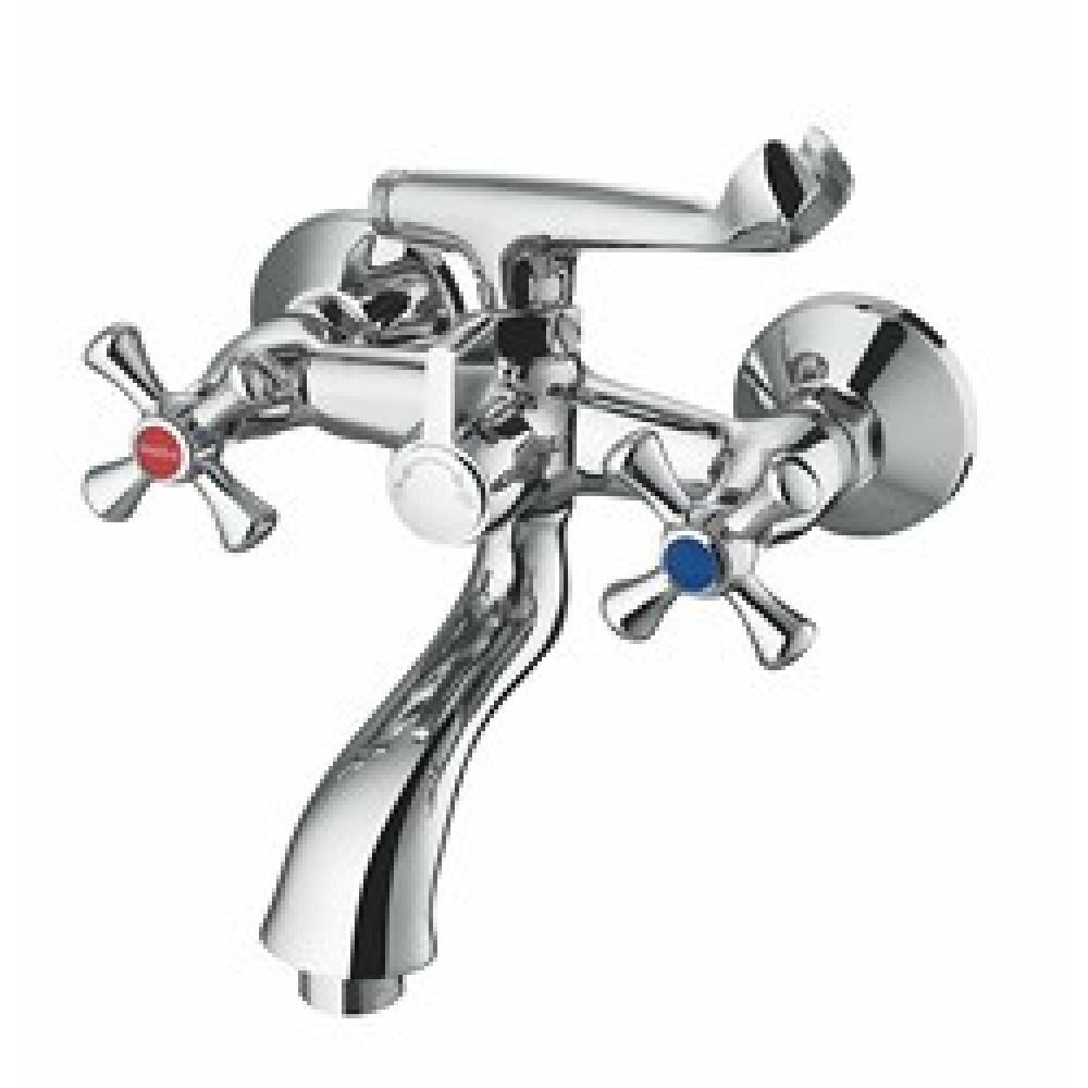 Смеситель для ванны VIKO V-1512 анна крест керамика (карт/переключатель) короткий излив