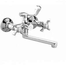 V-2122  Смеситель VIKO ванна к/н  крест керамика (кер/переключатель) излив L-20см латунь