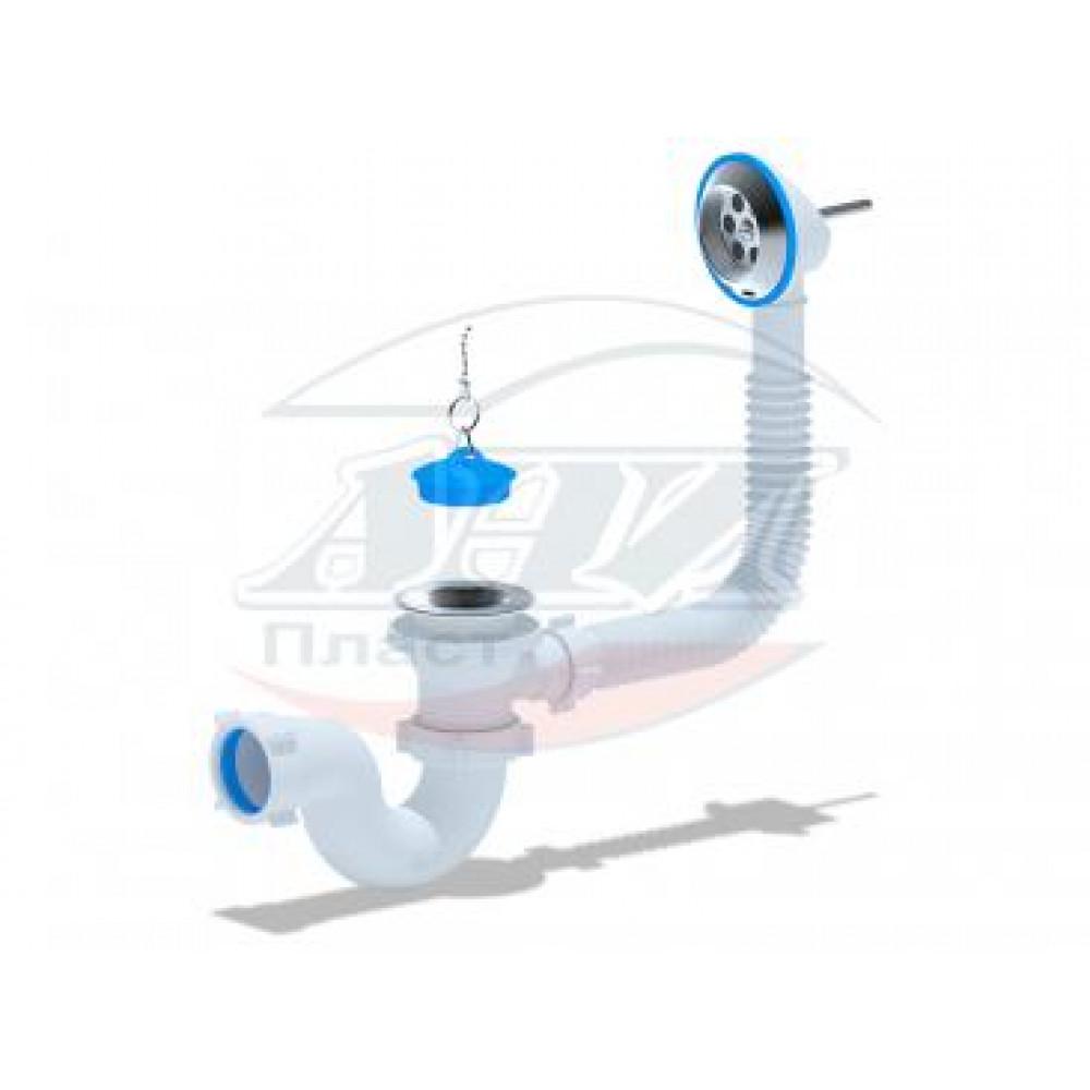 E150 Сифон АНИ для ванны с выпуском 1 1/2, с переливом