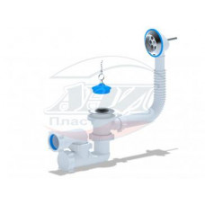 Е250 Сифон АНИ для ванны с выпуском, с переливом регулируемый 1 1/2
