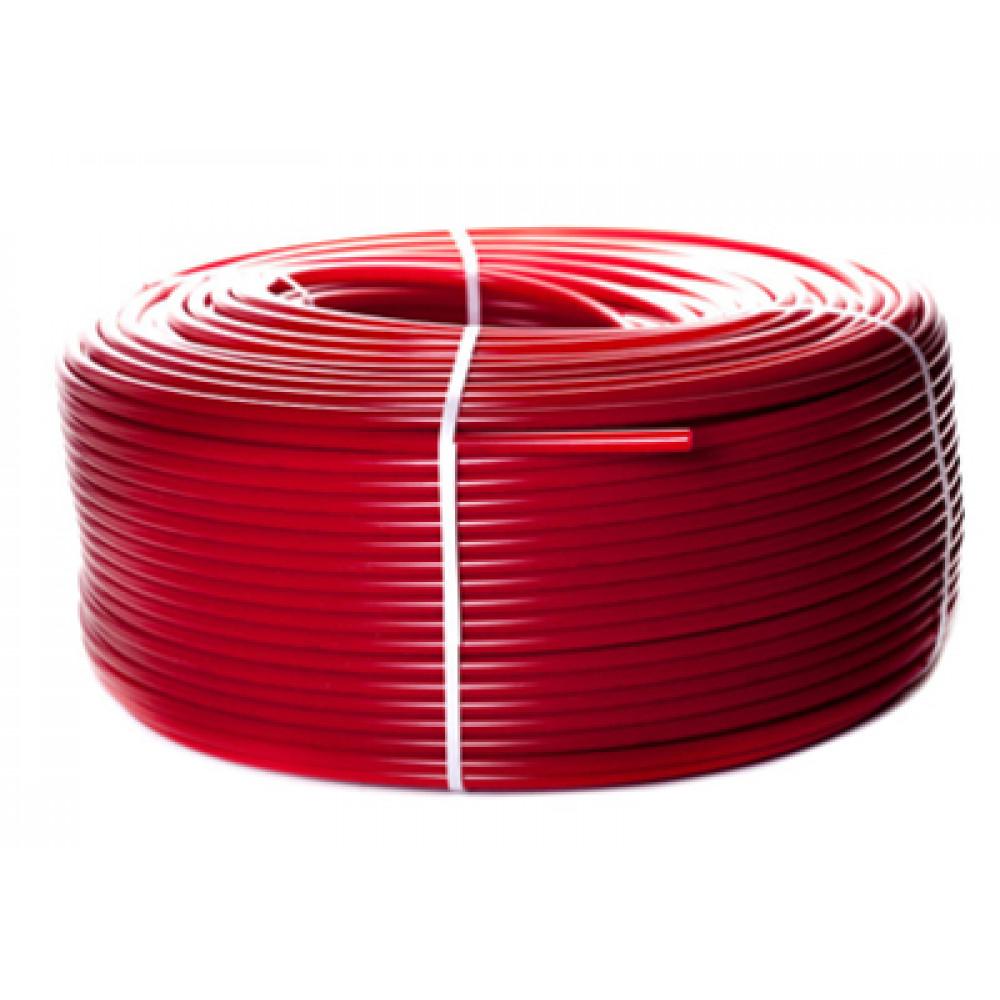PEX-a труба из сшитого полиэтилена с кислородным слоем (цвет красный) 100м