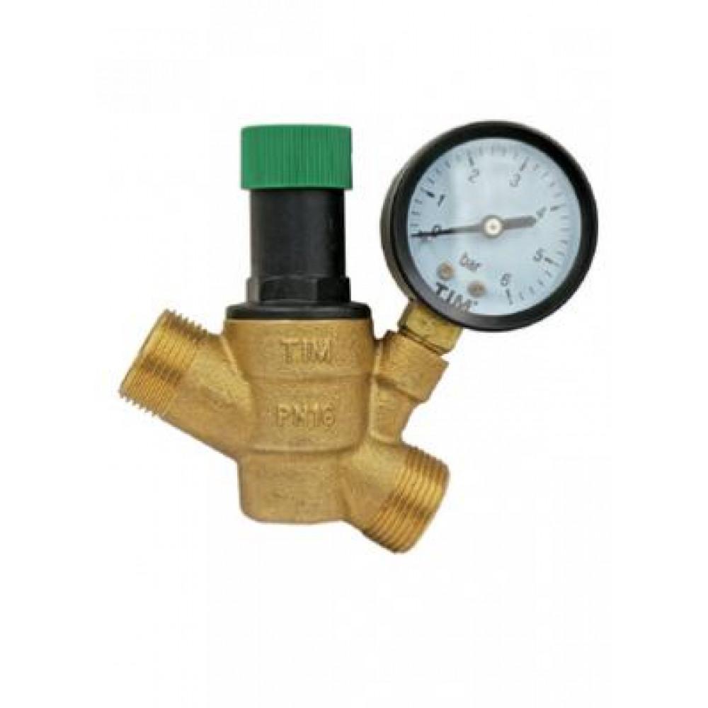 Редуктор снижения давления с манометром BL6823А